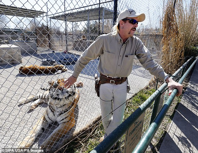 Claws: Carole rose to fame recently by appearing in the Netflix documentary with her big rival Joe Exotic (pictured)