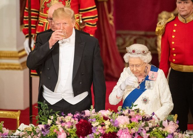 US President Donald Trump reportedly demanded an overnight stay at Buckingham Palace during his state visit to the UK in the summer of 2019 (above)