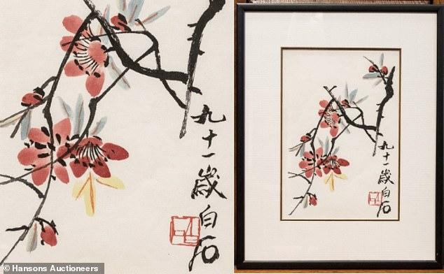 Qi Baishi's Twelve Landscape Screens set a record for the highest-selling Chinese painting ever sold at auction at £107.5million, setting high hopes for the watercolour paintings (above)