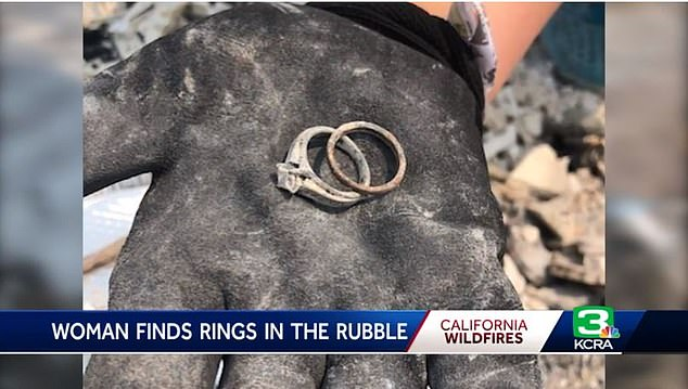 One of Chloe's aunts discovered the couple's wedding rings completely in tact