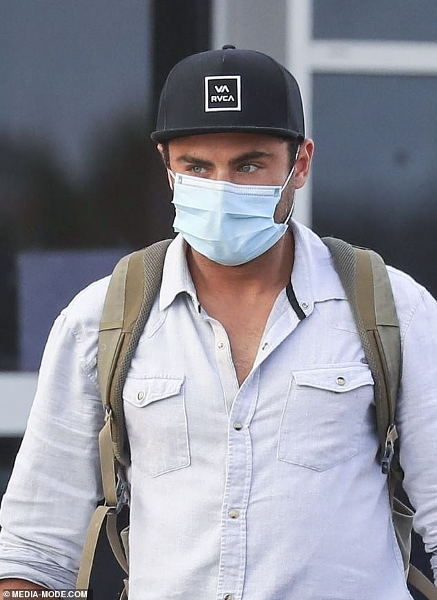 Unfinished business? Last month, Daily Mail Australia revealed that Zac had cancelled a scheduled flight back to Los Angeles