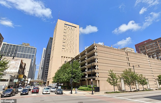 Last month, Kelly was attacked inside his jail cell at the Metropolitan Correctional Center (pictured) in Chicago, Illinois