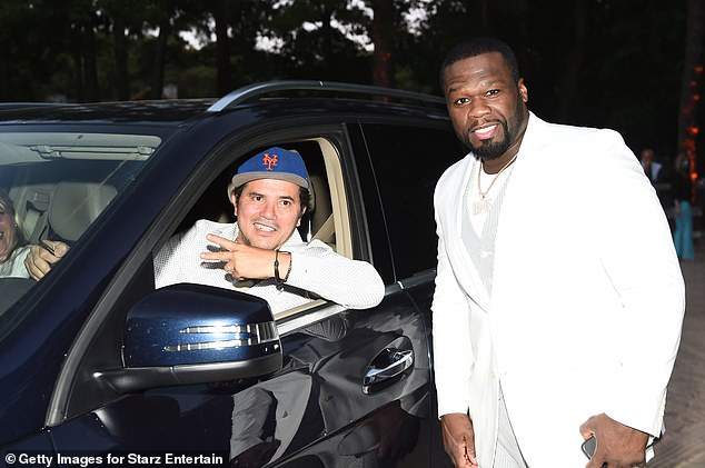 Safety of his car: Actor John Leguizamo was among the high-profile people to watch the premiere from the Stars are out
