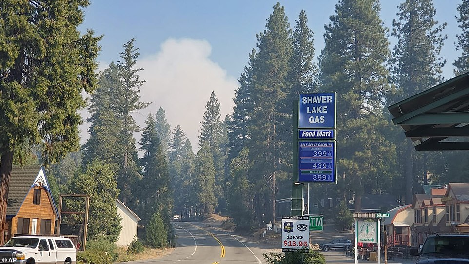 A wildfire that broke out near Shaver Lake in the Sierra National Forest has prompted evacuation orders as authorities urged people seeking relief from the Labor Day weekend heat wave to stay away from the popular lake