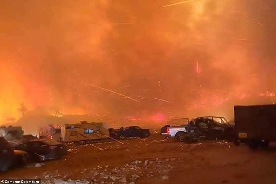 The Creek fire has burned 45,500 acres and is zero percent contained, the U.S. Forest Service said on Sunday