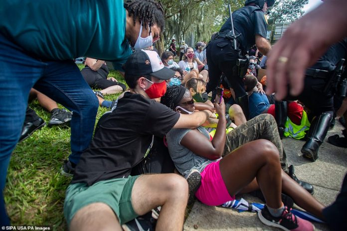 The Tallahassee Police Department arrested a total of 15 people on Saturday after a clash between law enforcement and protesters