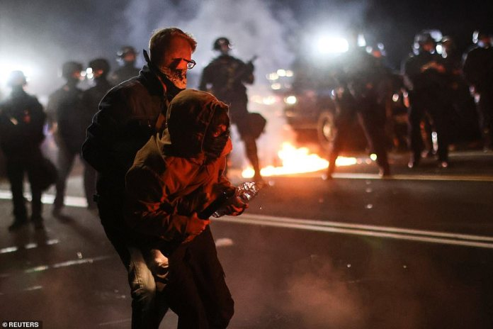 At least eight cities in the United States held anti-racism. Black Lives Matter protests on Saturday at the city of Portland marked its 100th night of demonstrations since May