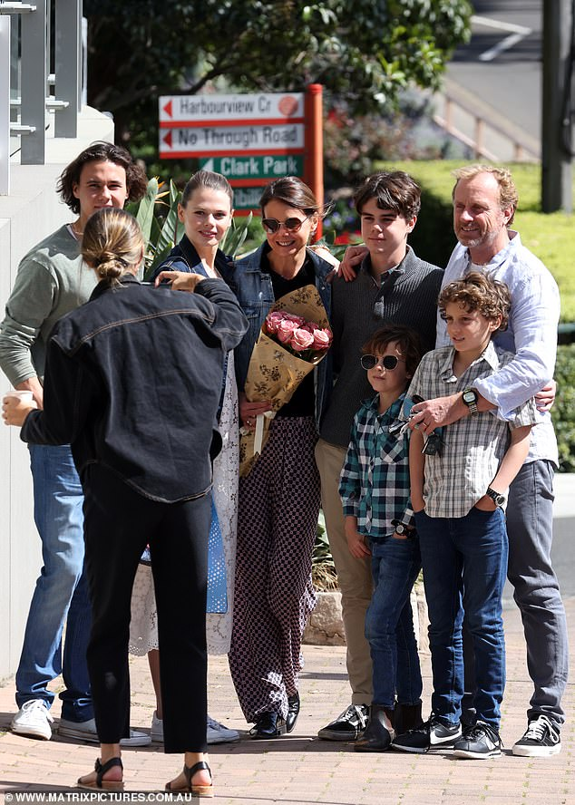 All together:Antonia Kidman joined her sister Nicole Kidman to celebrate Father's Day on Sunday. The 50-year-old took along her brood to the Lavender Bay apartment of her 53-year-old Hollywood star sister