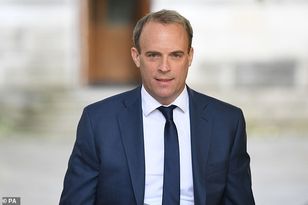 Dominic Raab slammed Labour's Diane Abbott for defending Extinction Rebellion activists who blockaded newspaper printing presses