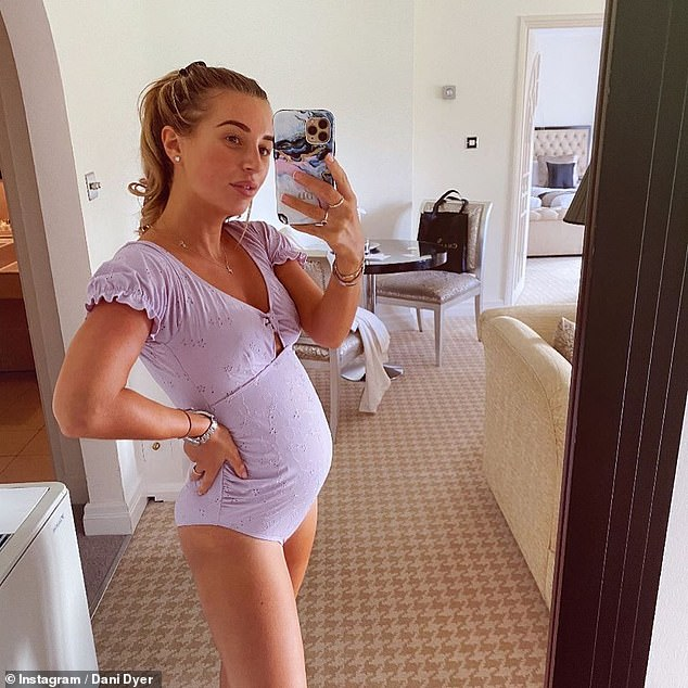Glowing: The reality star, 24, is pregnant with her first child with beau Sammy Kimmence