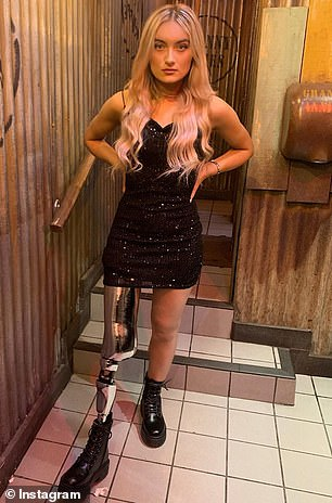 She lost her right leg above the knee in October 2018 after being diagnosed with synovial sarcoma, an aggressive cancer of soft tissue