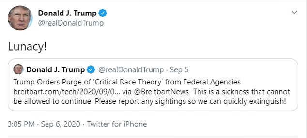 On Friday, the president also banned federal agencies from conducting racial sensitivity training related to 'white privilege' and 'critical race theory'