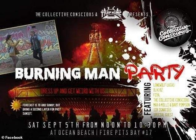 Fliers circulating on Facebook promoted the event, with a series of DJs and bands announced