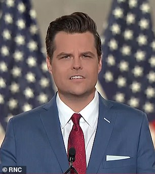 Matt Gaetz pictured on August 24