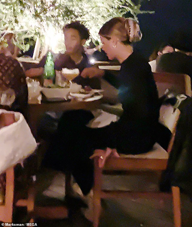 Tight bond: Numerous times throughout the dinner, Jaden and Sofia leaned in close to one another to chat