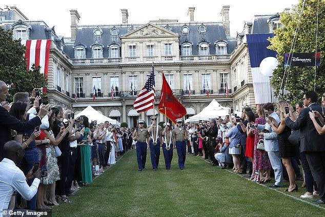 The U.S. ambassador's residence, the Hotel de Pontalba - where Trump stayed in Paris