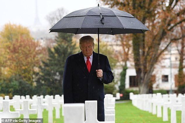 Trump visited American Cemetery of Suresnes, outside Paris, but refused a second cemetery