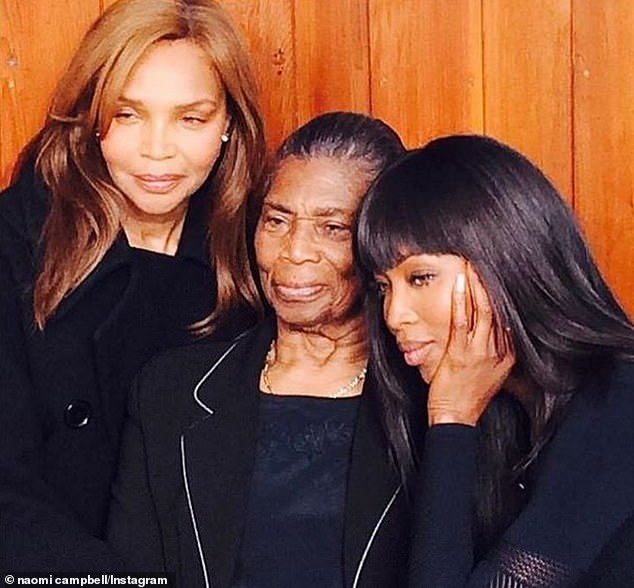 Family:Naomi shared a series of touching snaps of her grandma and her mother Valerie Morris as she processed the devastating news