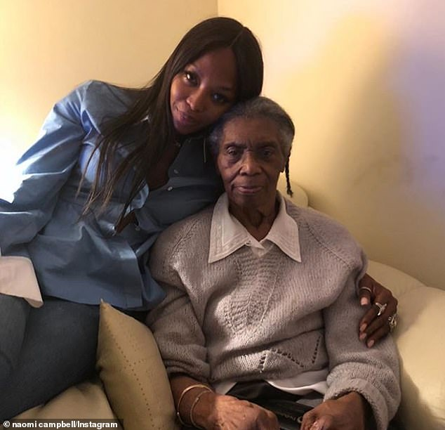 Dearly missed:Naomi Campbell has revealed her grandmother, Ruby Campbell Russel, passed away this week, sharing a tribute to her on Instagram