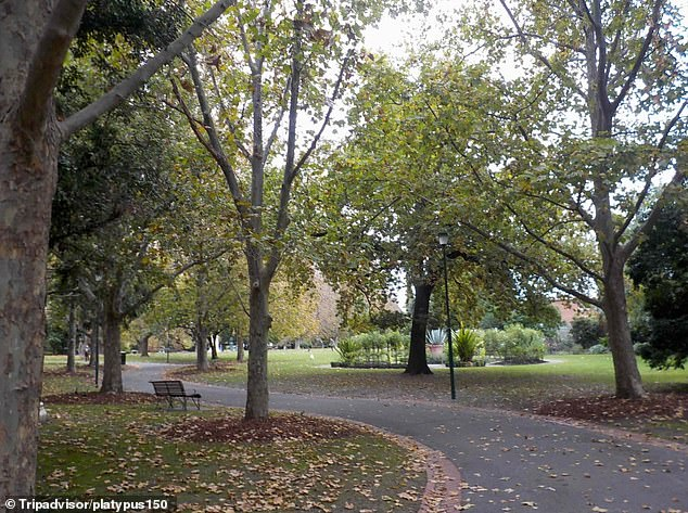 One of the mobile CCTV trailers has been placed at Victoria Gardens in Prahran (pictured) since last week, but has also been spotted at other locations around the inner-south local government area of Stonnington
