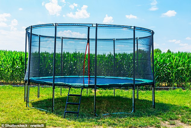 Hundreds of children are injured in trampoline-related accidents every year (stock image)