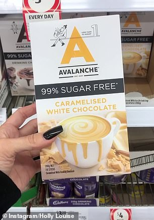 She is also a fan of the celebrity-endorsed Avalanche hot chocolate, which is 99 per cent sugar-free and boasts a host of fans including Sydney eyebrow guru Kristin Fisher (pictured)