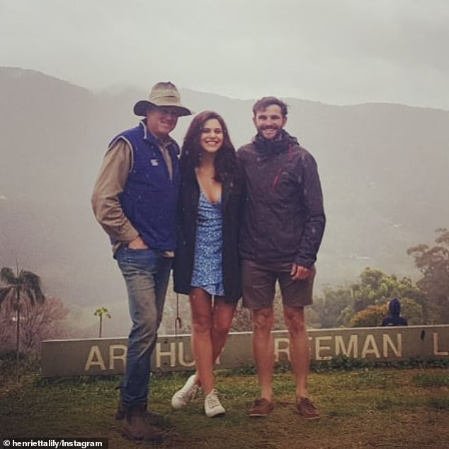 What went wrong? After dumping Jess for Henrietta (centre) in the season finale, farmer Alex (right) appeared to be living the good life with his girlfriend on his farm