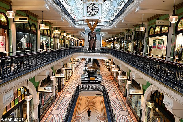 Sydney had 11 JobSeekers per job available in June. Pictured:The Queen Victoria Building in the CBD