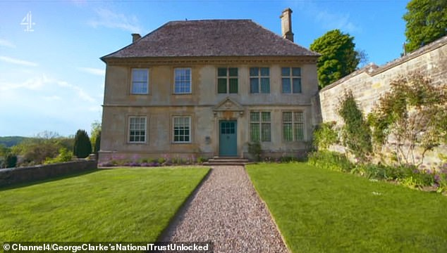 George Clarke investigated the unique home of a fellow architect at Snowshill Manor (pictured, the exterior) in the Cotswolds in last night's episode of National Trust Unlocked
