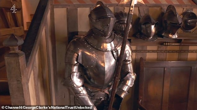 Charles had to take a suit of armour (pictured) to London but no taxi would take him, so he put it on and walked down the street. The next moment he was arrested. To his joy, the police van took him to London