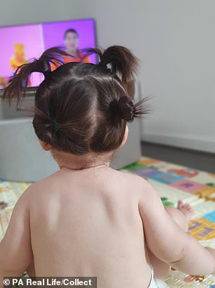 Mum Corinna added that she loves styling her little girls hair into buns