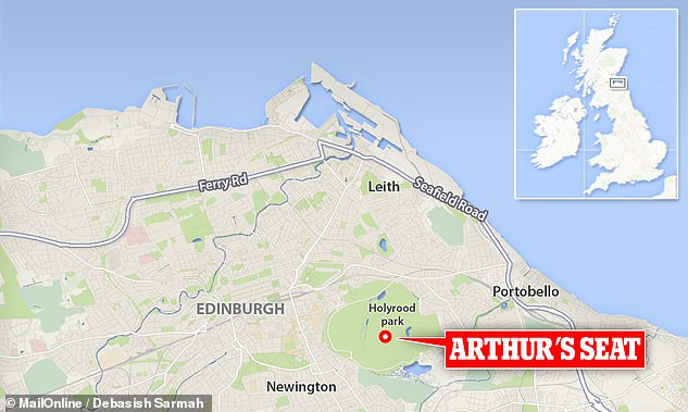Archaeologists working on top of Arthur's Seat in Edinburgh, pictured, have uncovered the remains of an ancient hillfort thought to date back up to 3,000 years