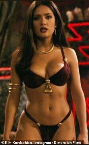 Wow: Salma pictured in the 1996 film From Dusk till Dawn