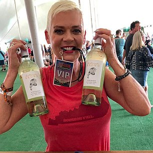 Clark regularly promotes a wine company on Instagram and some fans sent her death threats