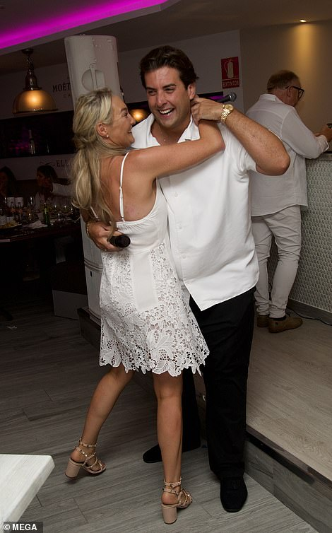 Moving on: He has a residency Elliott Wright's Marbella restaurant Olivia's (right last month)