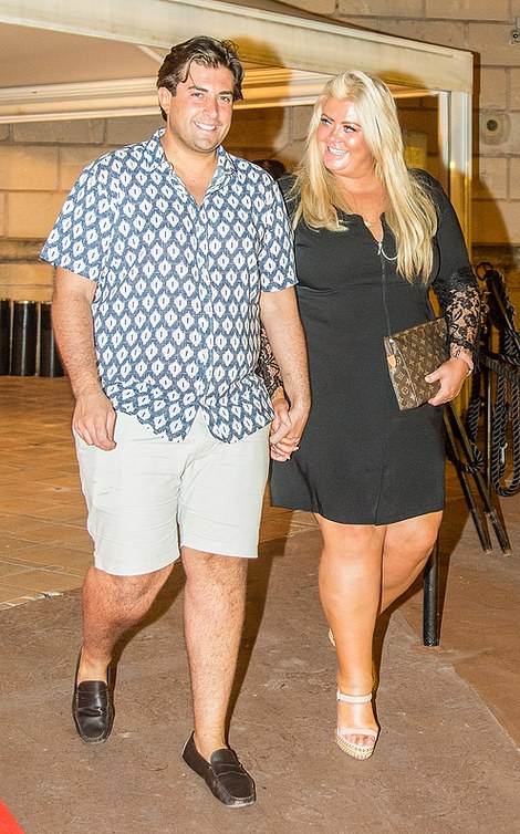 Now: Arg has split up from Gemma (pictured last year)