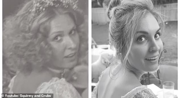 Lookalikes: They showed off side-by-side comparisons of Hannah and her mom