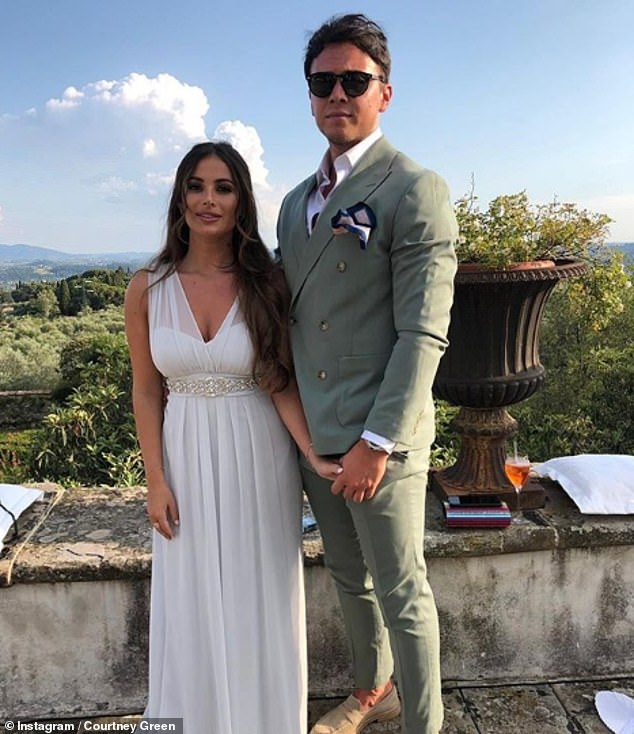 Reunited:Courtney was first reported to be dating Essex recruitment consultant Callum in November 2018 following her split from Myles Barnett, and they split in December 2019