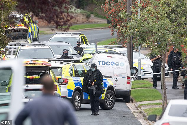 Police were called to reports that a teenager had been shot on the Grange Farm housing estate in Kesgrave, Suffolk, at around 8.40am on Monday