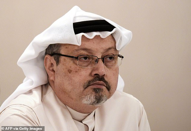 Murder victim: Saudi journalist and regime critic Jamal Khashoggi (pictured) was killed in 2018 - but Trump's criticism of Saudi authorities was muted