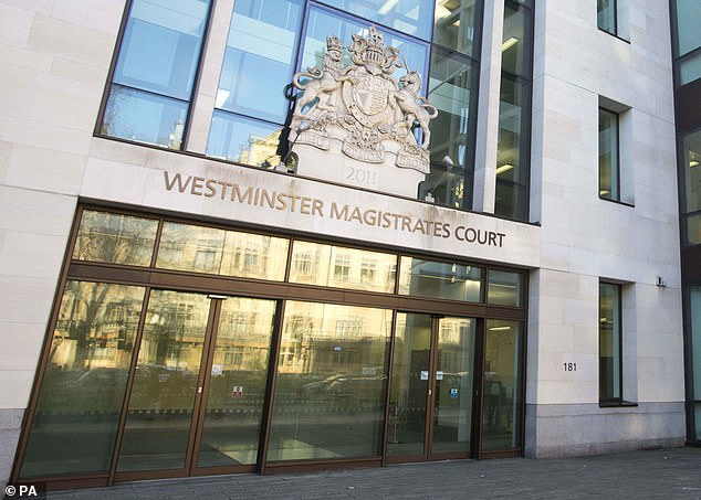 Westminster Magistrates' Court (pictured) heard today that he is accused of kissing the alleged victim and rubbing his crotch against her
