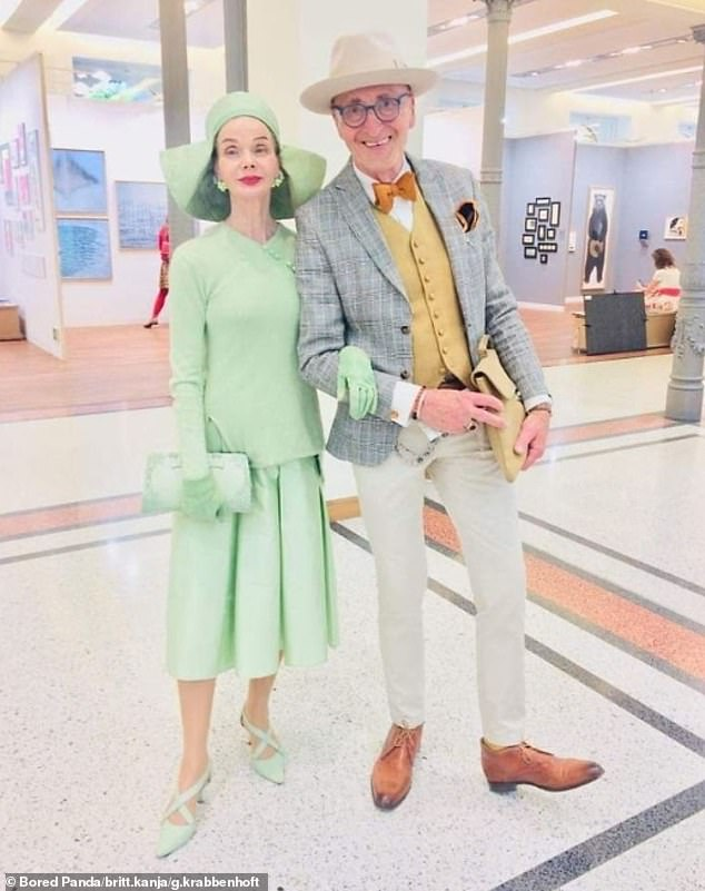 Looking good!Britt Kanja and Günther Krabbenhöft, who are both thought to be in their 70s, have wowed onlookers after stepping out on the streets of Berlin