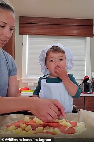 Mama mia! While making pizza, he sampled the cheese, the dough, and the toppings