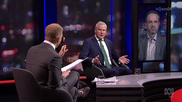 Michael McCormack appeared on ABC's Q&A on Monday night to discuss the coronavirus-stricken state and the government's handling of the crisis