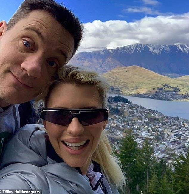 Speaking out: Comedian Ed Kavalee (pictured with his wife, Tiffiny Hall) said on Monday that Zac's presence in Byron Bay potentially spells disaster for locals