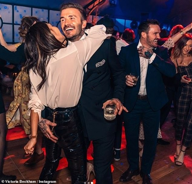 Super-spreaders!? David, 45, and Victoria Beckham, 46, are said to have secretly caught COVID-19 while partying in LA before flying back to the UK, and then jetting over to Miami (Pictured at son Brooklyn's 21st birthday party in the Cotswolds on March 8th)