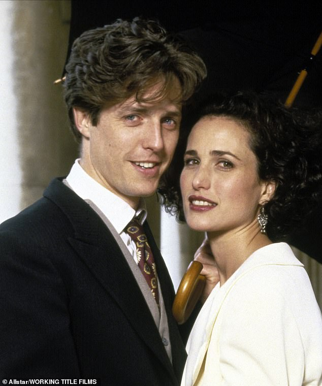 As the sweary, always late Charles in Four Weddings, Hugh was adorable. Still think he should have married Fiona, and not that annoying American!