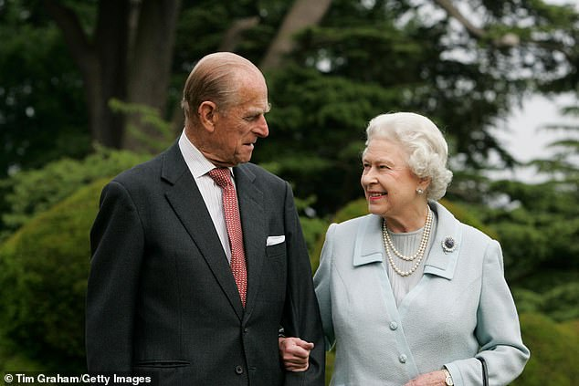 During lockdown the Queen and the Duke of Edinburgh (pictured) were protected at the castle by what became known as the 'HMS Bubble'