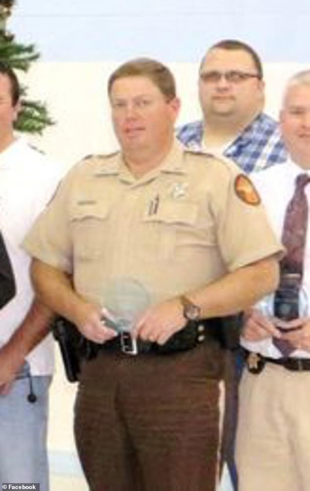 Deputy Darrell Hackney saved only by his bulletproof vest during the Sunday night shooting