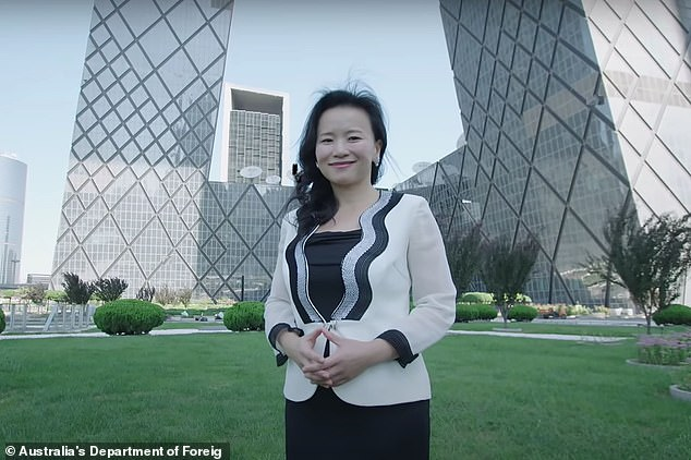 Australian journalist Cheng Lei (pictured) was detained in China's capital city Beijing in August. She is a high profile anchor for CGTN, China's English language state broadcaster